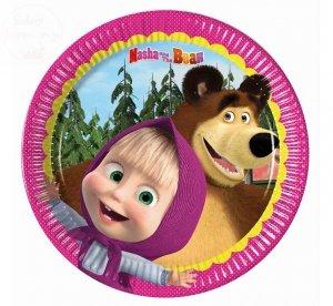 Talerzyki papierowe Masha and the bear 8 szt