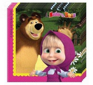 Serwetki Masha and the bear 33x33cm 20 szt