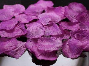 Płatki róż w woreczku śliwkowe 500 szt