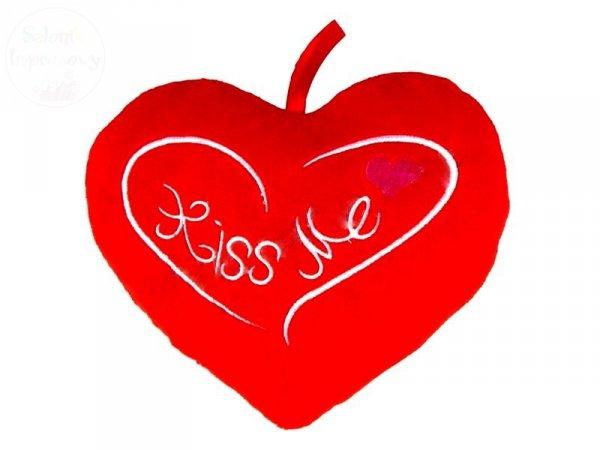 """Serce poducha """" Kiss Me""""  21 x 18 cm"""