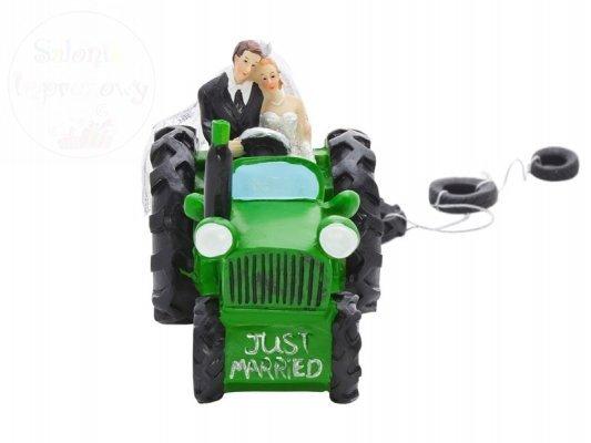 Figurka na tort Para Młoda w traktorze 11cm PF34