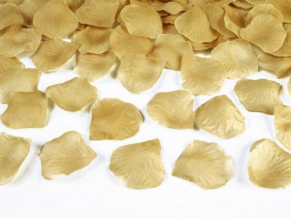 Płatki róż w woreczku złoty 100 szt