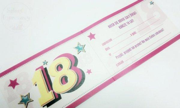 """Zaproszenie na 18 urodziny """" KRÓLICZEK """""""