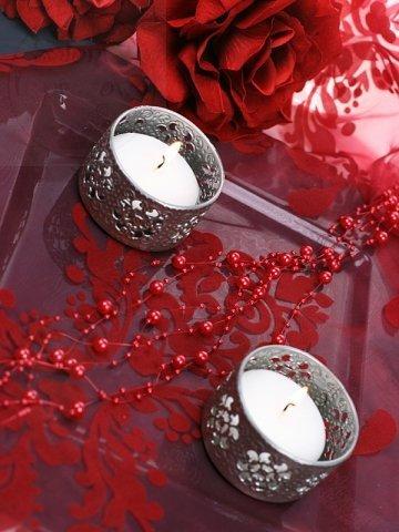 Girlanda perłowa kolor czerwony 1,3m 5 szt