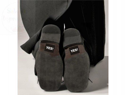 "Naklejki na buty ""YES"" 2szt NB3"
