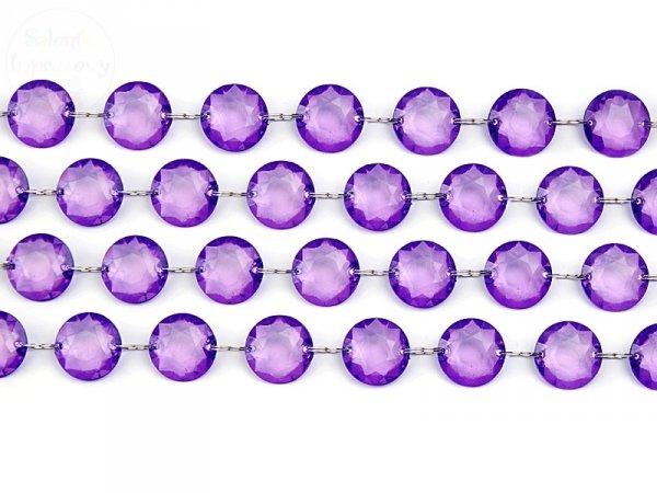 Girlanda kryształowa fioletowa długość 1m
