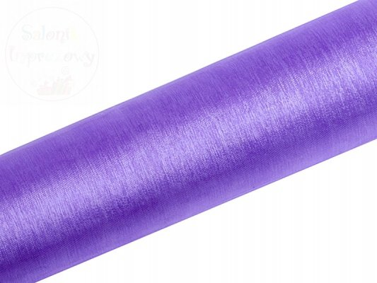 Organza gładka 0,16 x 9m kolor liliowy ORP16-004