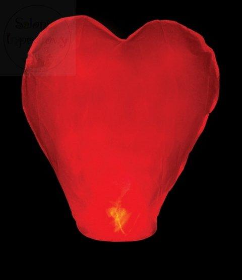 Lampion 38x70x102cm serce czerwone 1szt