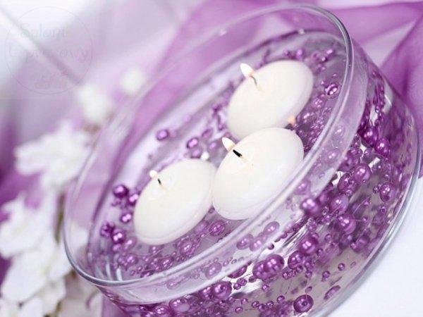 Girlanda perłowa kolor purpura 1,3m 5szt GP6