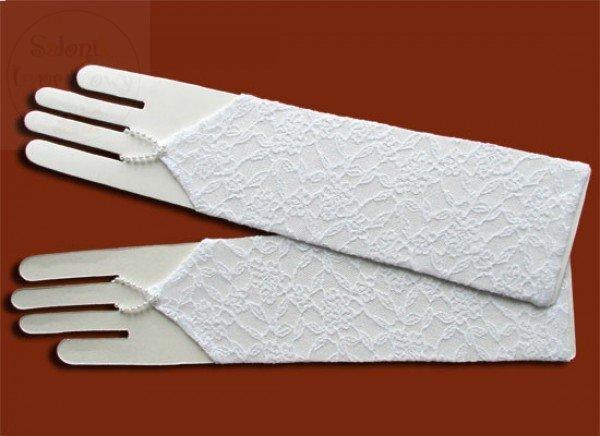 Rękwiczki długie koronkowe na paluszek