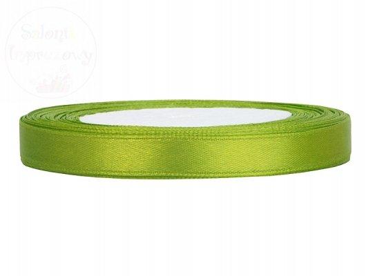 Tasiemka satynowa jasno zielona 6mm/25m