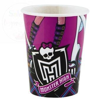 Kubeczki papierowe urodzinowe Monster High 8szt