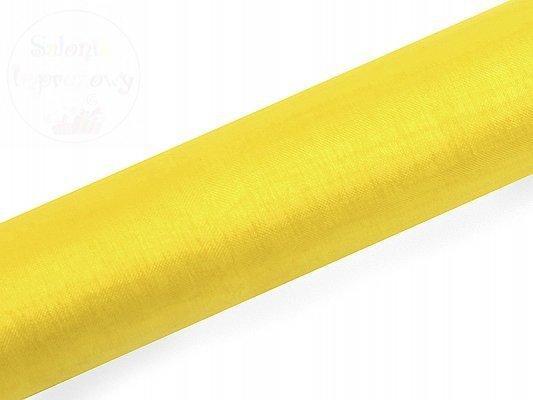 Organza 0,16 x 9m gładka zółta ORP16-009