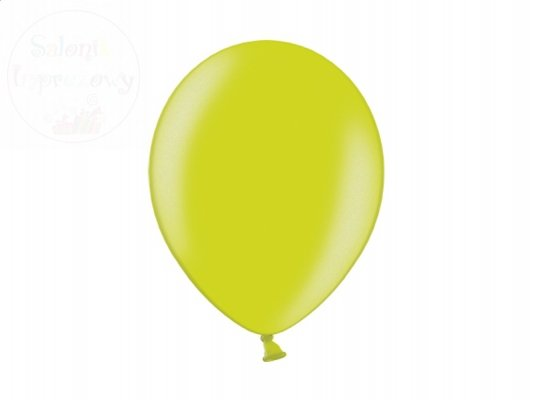 Balony 12 cali jasno zielone metalik - 1 szt