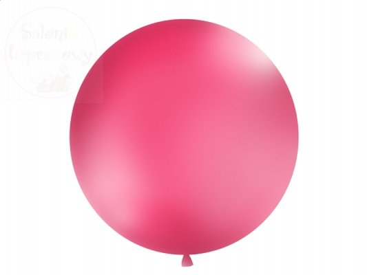 Balon 1 metr pastelowy kolor -  fuksja 1 szt