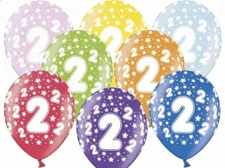 """Balony 14cali metalik mix color """"2"""""""
