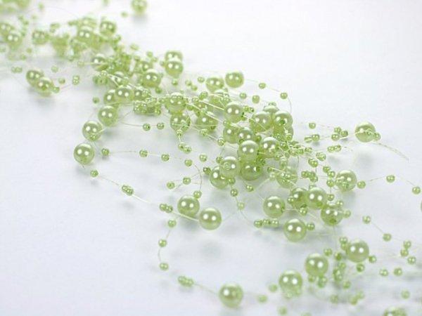 Girlanda perłowa kolor jasno-zielony 1,3m 5 szt GP