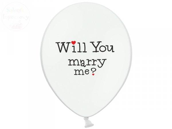 """Balony białe 14cali - """"Will yuo... 1szt"""