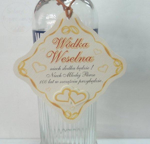 Zawieszka na alkohol z rafią 25szt ZWB15