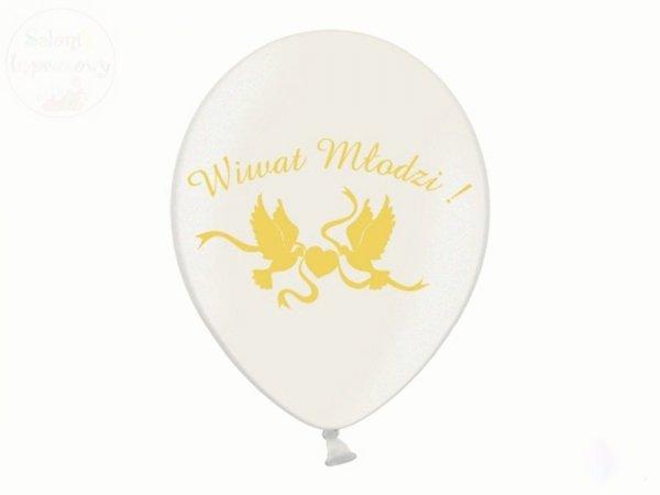 Balony Wiwat Młodzi!!!  Kremowe metaliczne 1 szt