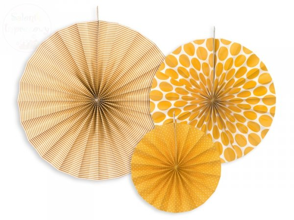 Rozety dekoracyjne pomarańczowe 3 szt RPK1-080