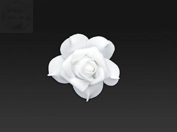 Kwiatki ozdobne z taśmą  białe 7 cm