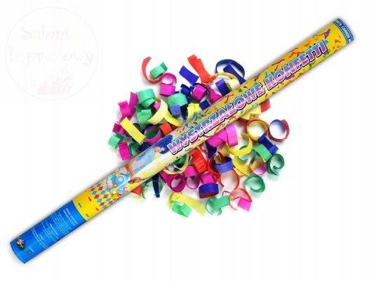 Tuba strzelajaca kolorowym konfetti 80 cm