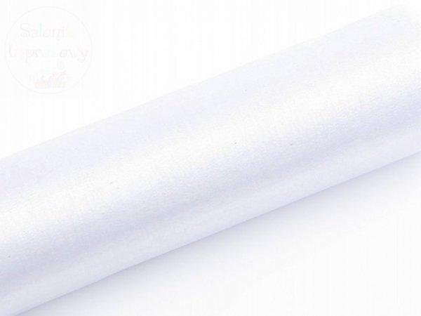 Organza 0,16x9m gładka biała