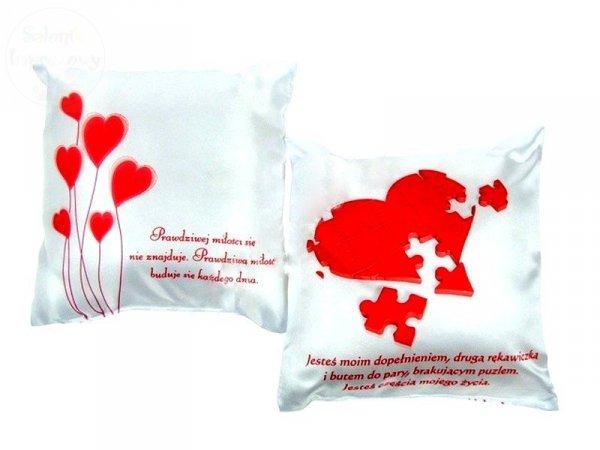 """Poduszka a mała """" Serce z Puzli """" 18 x 18 cm"""