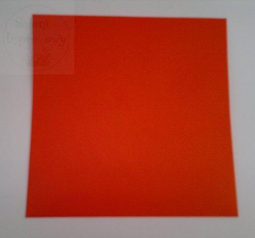Koperta kwadrat czerwone 15,5x15,5 cm 1szt