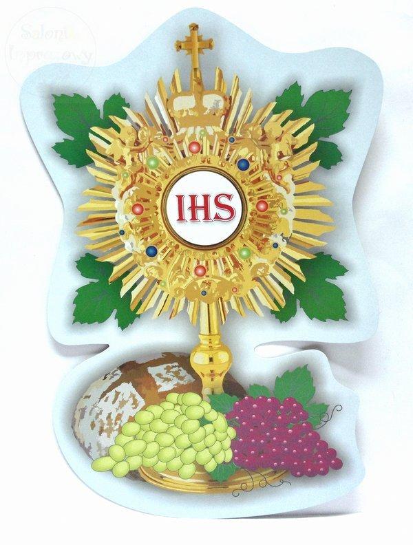Emblemat, plakat komunijny 1szt