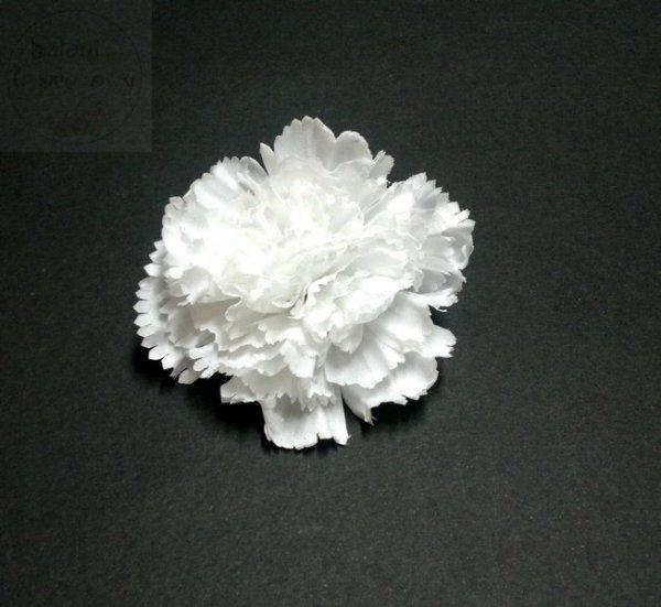 Kwiat sztuczny goździk biały