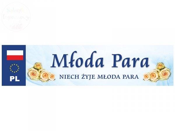 """Ślubna tablica rejestracyjna """"Młoda Para"""""""