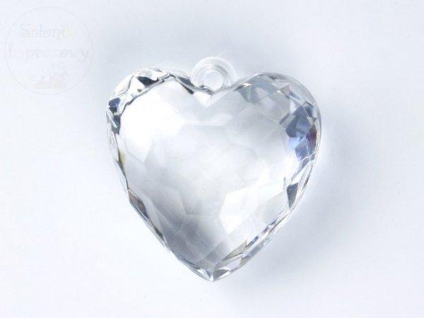 Serce bezbarwne zawieszka 1szt AH1-40-099