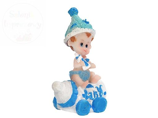 Figurka na tort chłopiec na butelce 6,5cm DF9C