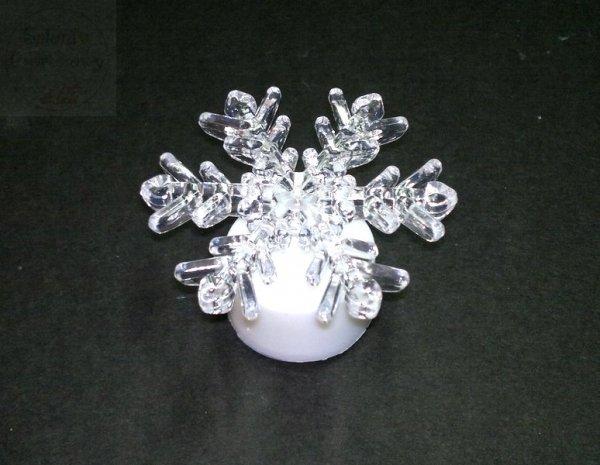Śnieżynka Led Święcąca  - 1szt