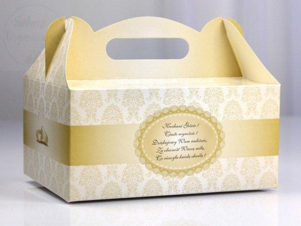 Pudełko weselne ozdobne na ciasto 1szt PUDCS1