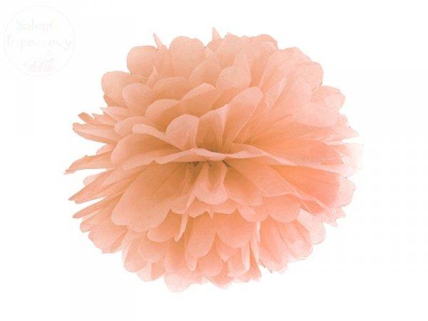 Pompon bibułowy jasno brzoskwiniowym 35cm 1szt