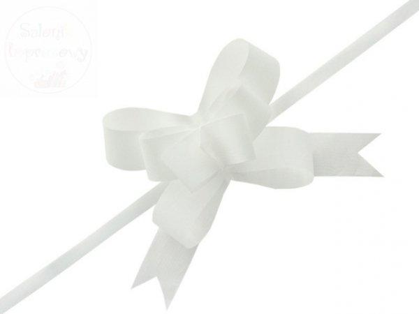 Wstążka ściągana 3 cm biała