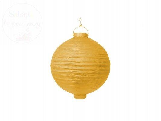 Lampion ogrodowy, papierowy 20cm żółty 1szt