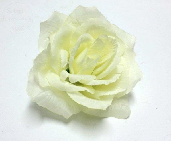 Kwiat sztuczny RÓŻA w kolorze ecri