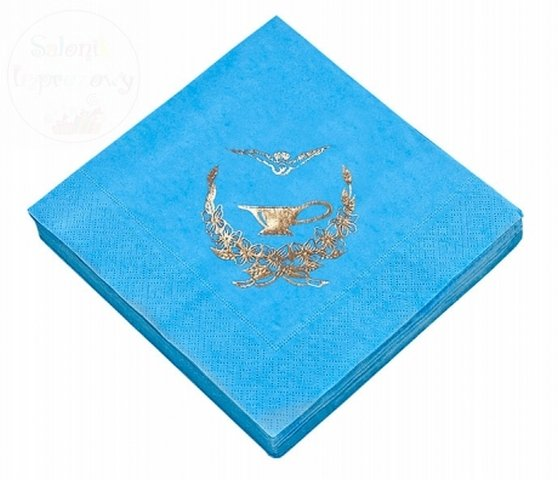 Serwetki na chrzest błękitne 33x33cm 3warstw 20szt
