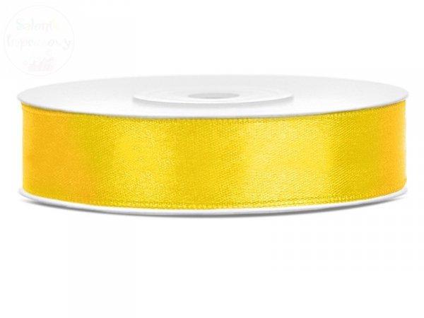 Tasiemka satynowa żółta 12mm TS12-001