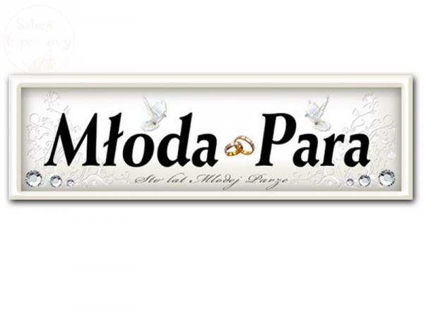 Tablica rejestracyjna ślubna Młoda Para -  1 szt