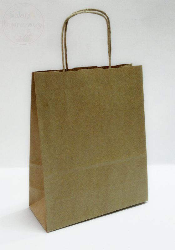 Torebka szara papierowa A5 18 x 8 x 22 cm
