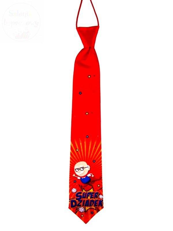 "Krawat Premium ""SUPER Dziadek  "" - Superbohater"