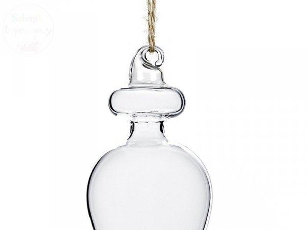Dekoracja szklana  5x5x19 cm