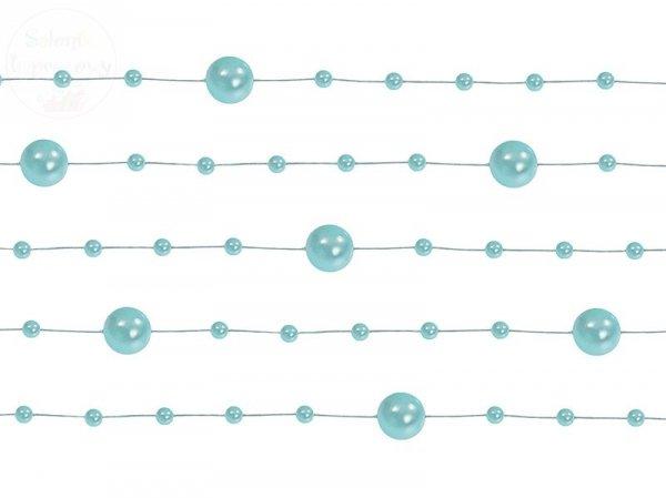 Girlanda perłowa kolor mięta 1,3m 5szt