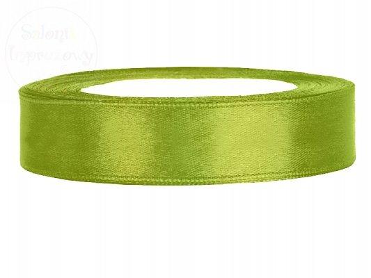 Tasiemka satynowa jasno zielona 12mm TS12-102J