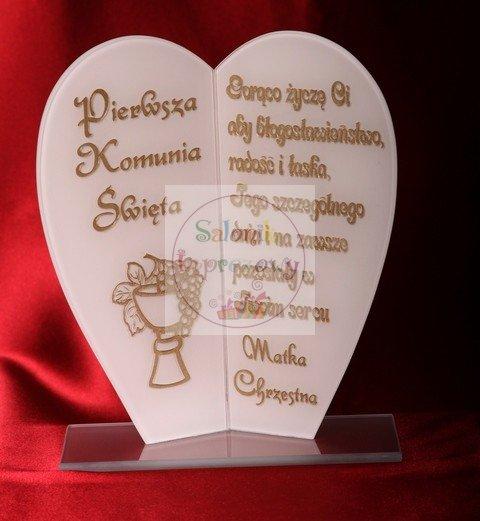 Statuetka Serce prezent na komunię, komunia